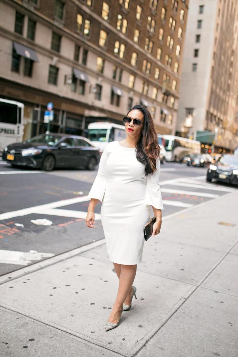 tiffany street fashion white dress