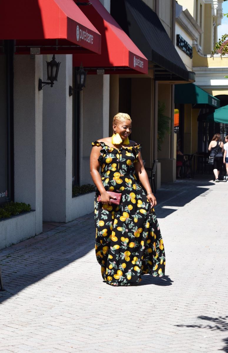 yellow dresss